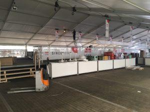 Fricke Party Zelt-Aufbau