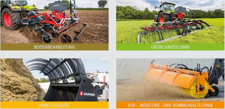 Hauptkategorien der Artikel von Saphir Maschinenbau