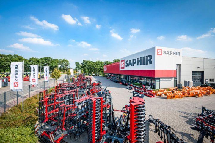 seitliche Ansicht auf Saphir Maschinenbau