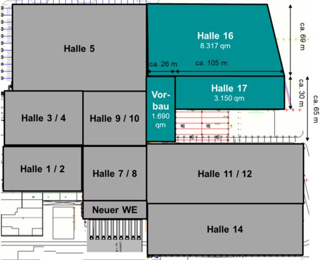 Logistik Erweiterung Hallenplan